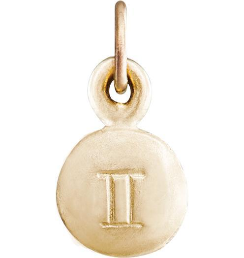 Small Gemini Zodiac Charm - 14k Yellow Gold - Jewelry - Helen Ficalora - 1