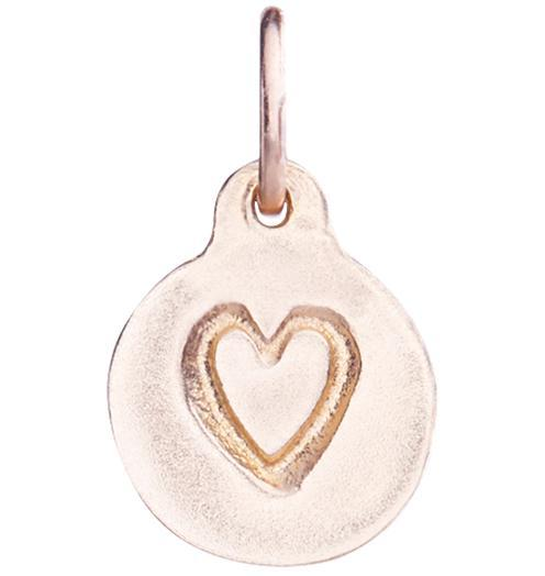 Small Heart Disk Charm - 14k Pink Gold - Jewelry - Helen Ficalora - 3