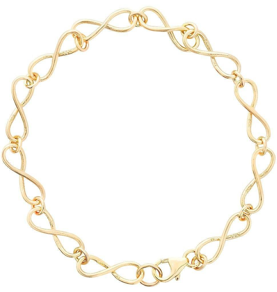 Small Infinity Bracelet Jewelry Helen Ficalora 14k Yellow Gold