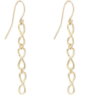 Small Infinity Dangle Earrings Jewelry Helen Ficalora 14k Yellow Gold