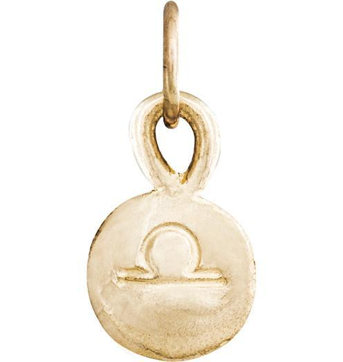 Small Libra Zodiac Charm - 14k Yellow Gold - Jewelry - Helen Ficalora - 1