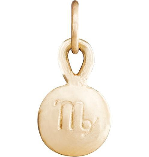 Small Virgo Zodiac Charm - 14k Yellow Gold - Jewelry - Helen Ficalora - 1