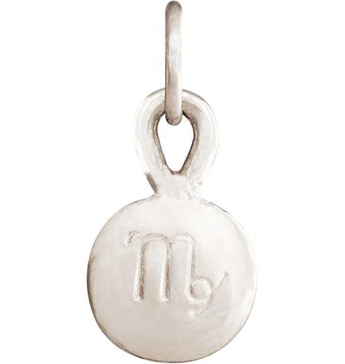 Small Virgo Zodiac Charm - 14k White Gold - Jewelry - Helen Ficalora - 2