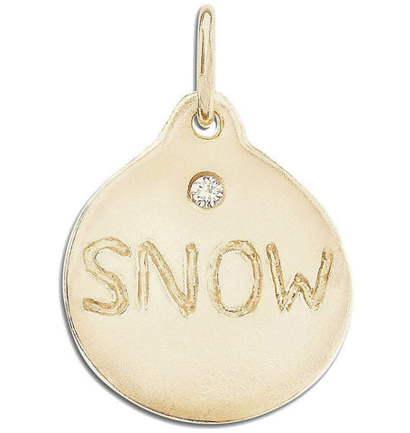 Jewelry - Snow Disk Charm With Diamond