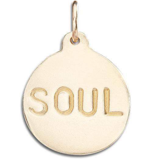 """Soul"" Disk Charm - 14k Yellow Gold - Jewelry - Helen Ficalora - 1"