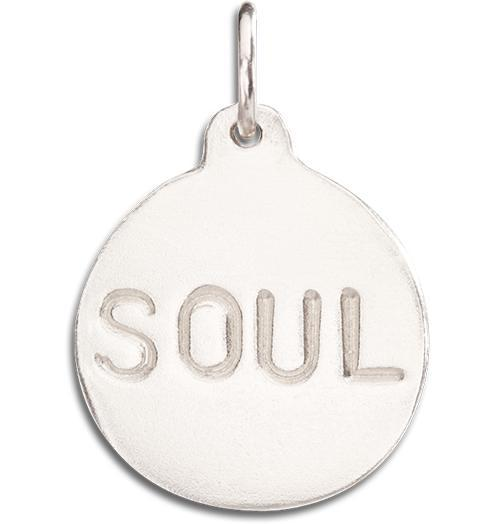 """Soul"" Disk Charm - 14k White Gold - Jewelry - Helen Ficalora - 2"