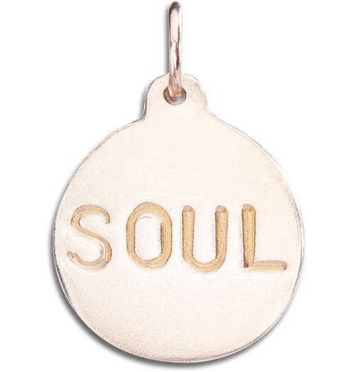 """Soul"" Disk Charm - 14k Pink Gold - Jewelry - Helen Ficalora - 3"
