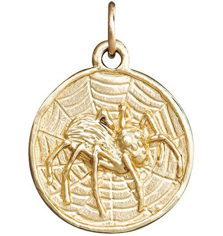 Spider Coin Charm Jewelry Helen Ficalora 14k Yellow Gold