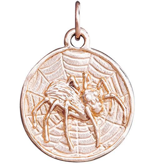 Spider Coin Charm - 14k Pink Gold - Jewelry - Helen Ficalora - 3