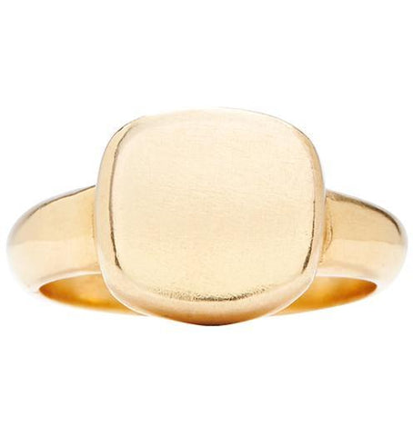 Square Signet Ring Jewelry Helen Ficalora 14k Yellow Gold 6