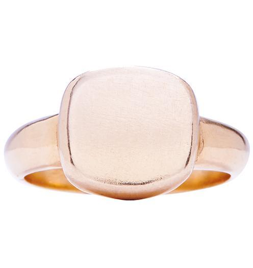 Square Signet Ring Jewelry Helen Ficalora 14k Pink Gold 6