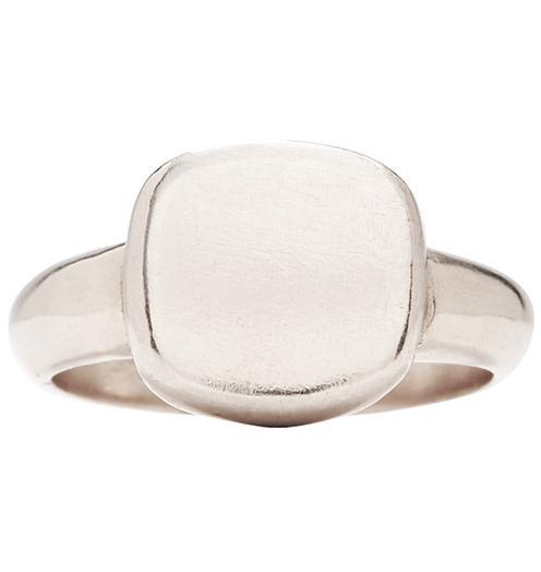 Square Signet Ring - 14k White Gold / 6 - Jewelry - Helen Ficalora - 3