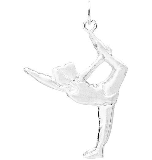 Standing Bow Pose Yoga Charm - Sterling Silver - Jewelry - Helen Ficalora - 1