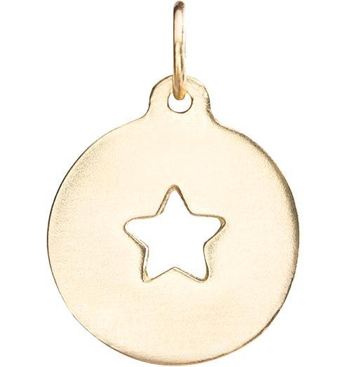Star Cutout Charm - 14k Yellow Gold - Jewelry - Helen Ficalora - 1