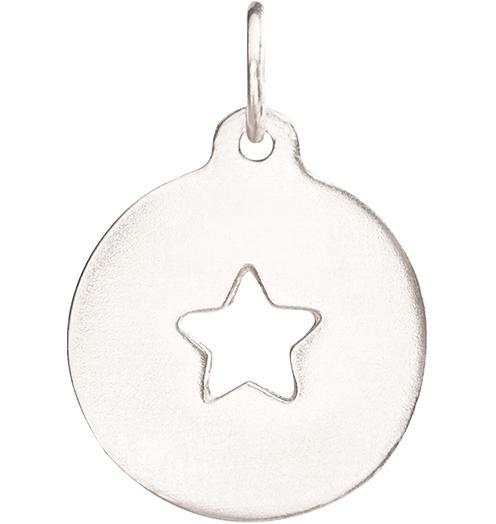 Star Cutout Charm - 14k White Gold - Jewelry - Helen Ficalora - 2