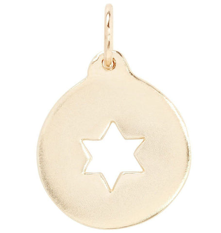 Star of David Cutout Charm Jewelry Helen Ficalora 14k Yellow Gold