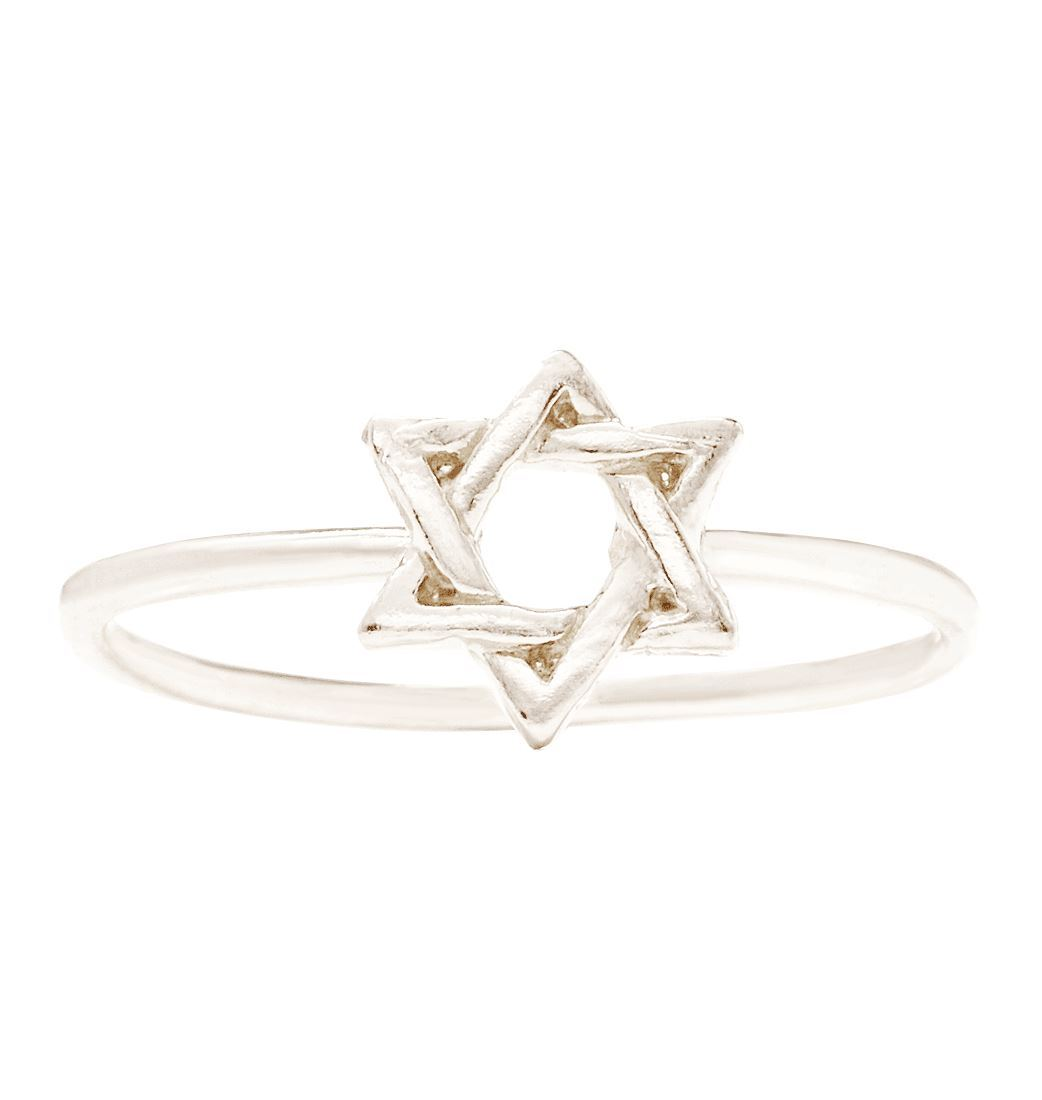 Star Of David Stacking Ring Jewelry Helen Ficalora 14k White Gold 6