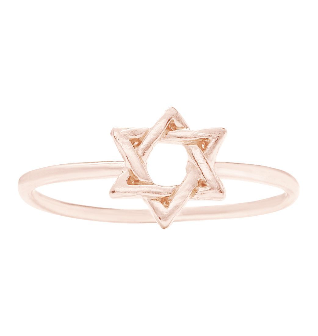 Star Of David Stacking Ring Jewelry Helen Ficalora 14k Pink Gold 6