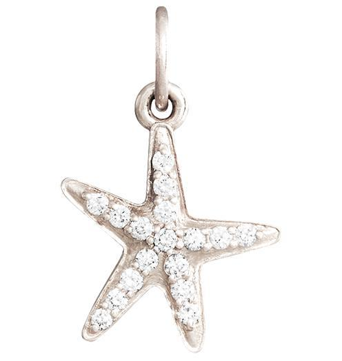 Starfish Mini Charm Pave Diamonds - 14k White Gold - Jewelry - Helen Ficalora - 2