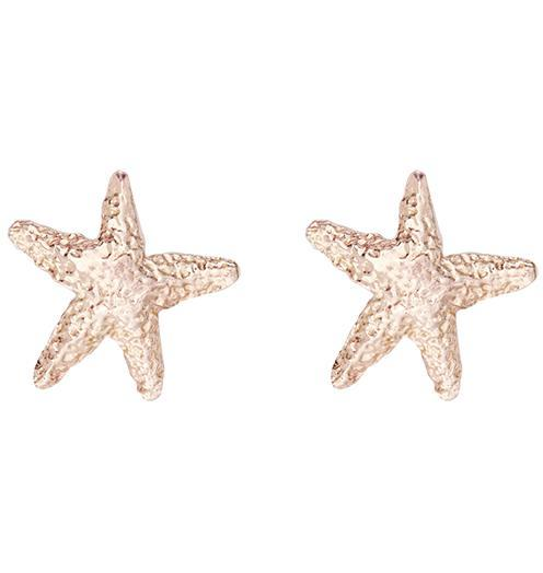 Starfish Stud Earrings - 14k Pink Gold - Jewelry - Helen Ficalora - 3