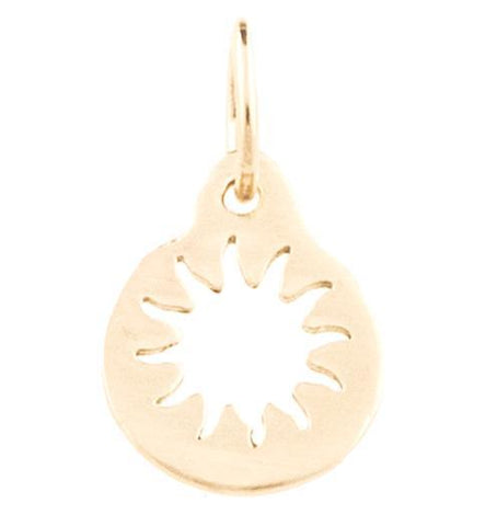 Sun Cutout Charm Jewelry Helen Ficalora 14k Yellow Gold For Necklaces And Bracelets