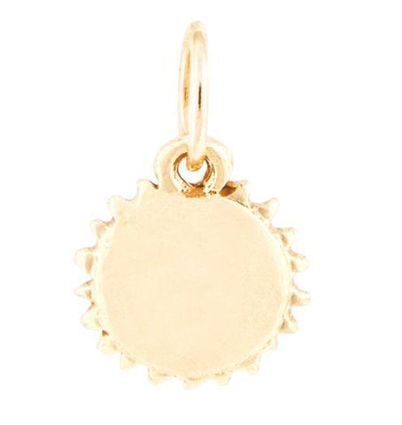 Sun Mini Charm - 14k Yellow Gold - Jewelry - Helen Ficalora - 1