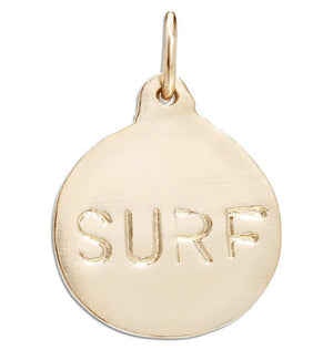 """Surf"" Disk Charm Jewelry Helen Ficalora 14k Yellow Gold For Necklaces And Bracelets"