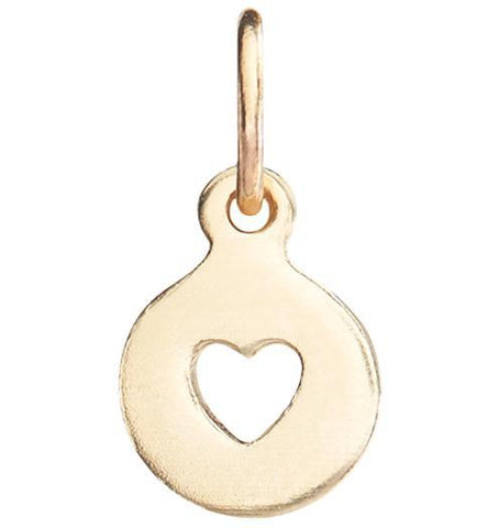 Tiny Heart Cutout Charm Jewelry Helen Ficalora 14k Yellow Gold