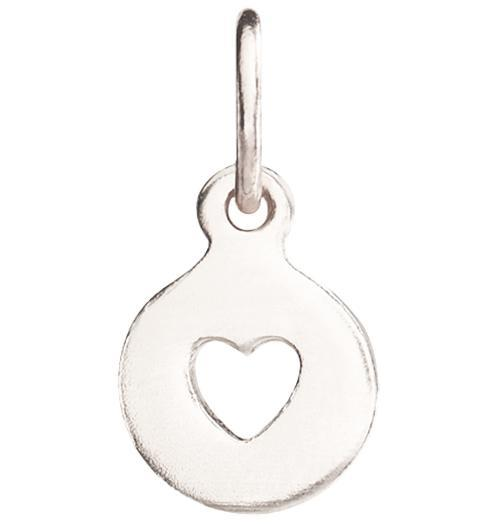 Tiny Heart Cutout Charm - 14k White Gold - Jewelry - Helen Ficalora - 2