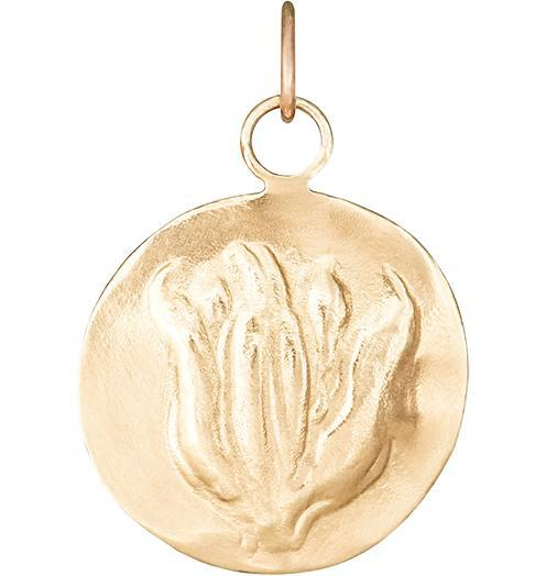 Tulip Repouss̩e Charm - 14k Yellow Gold - Jewelry - Helen Ficalora - 1