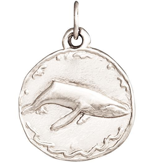 Whale Coin Charm - 14k White Gold - Jewelry - Helen Ficalora - 2