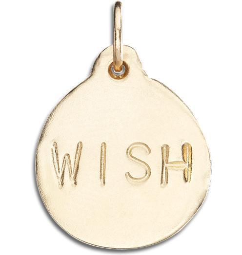 """Wish"" Disk Charm - 14k Yellow Gold - Jewelry - Helen Ficalora - 1"