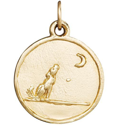 Wolf Coin Charm Jewelry Helen Ficalora 14k Yellow Gold