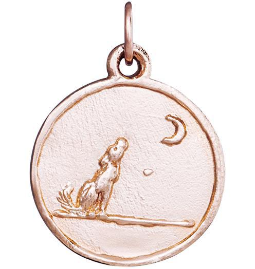Wolf Coin Charm - 14k Pink Gold - Jewelry - Helen Ficalora - 3