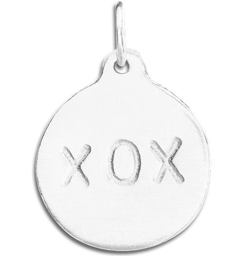 """XOX"" Disk Charm - Sterling Silver - Jewelry - Helen Ficalora - 4"
