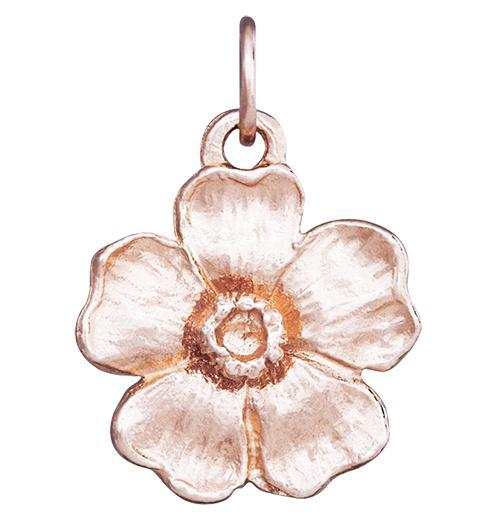 Large Cherry Blossom Flower Charm Jewelry Helen Ficalora 14k Pink Gold