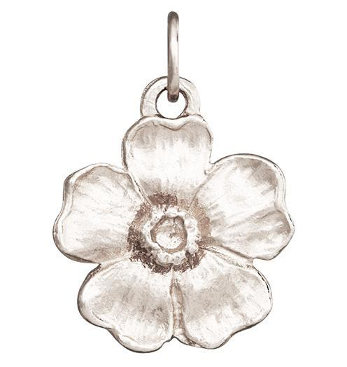 Large Cherry Blossom Flower Charm Jewelry Helen Ficalora 14k White Gold