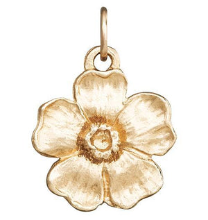 Large Cherry Blossom Flower Charm Jewelry Helen Ficalora 14k Yellow Gold