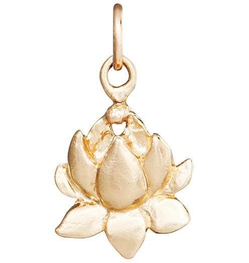 Lotus Flower Charm Jewelry Helen Ficalora 14k Yellow Gold