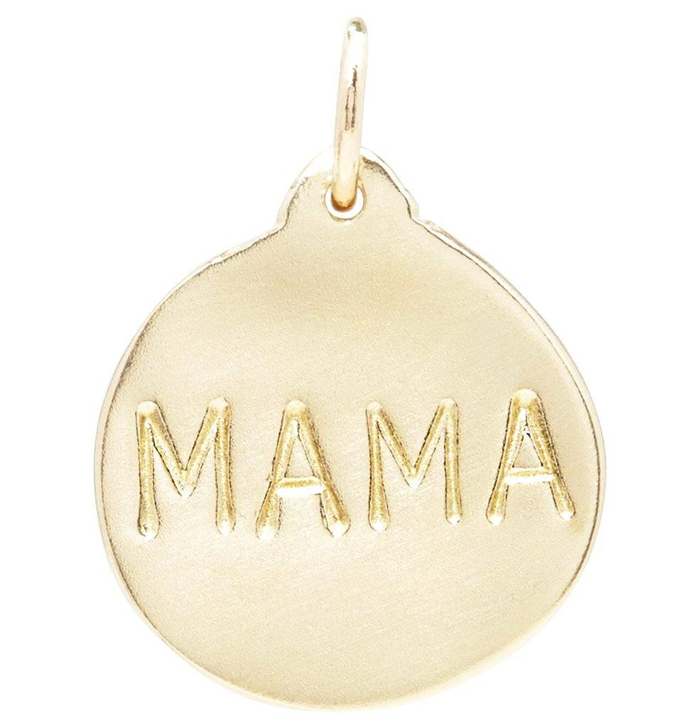 """Mama"" Disk Charm Jewelry Helen Ficalora"