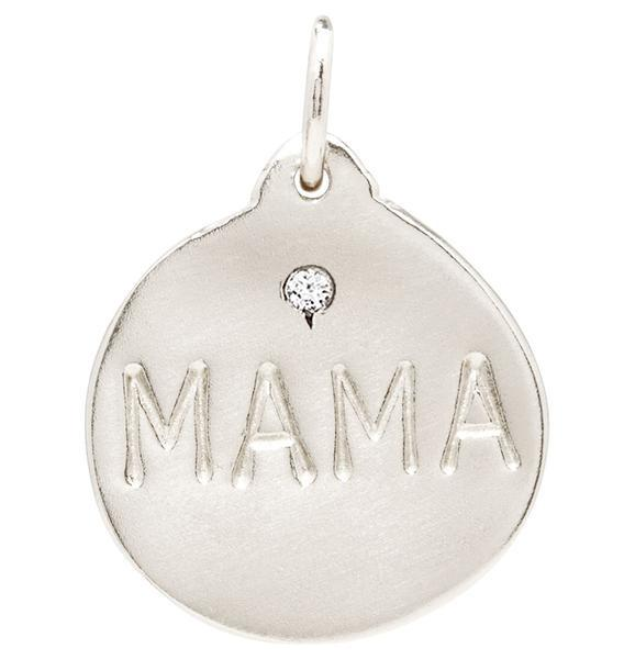 """Mama"" Disk Charm With Diamond Jewelry Helen Ficalora"