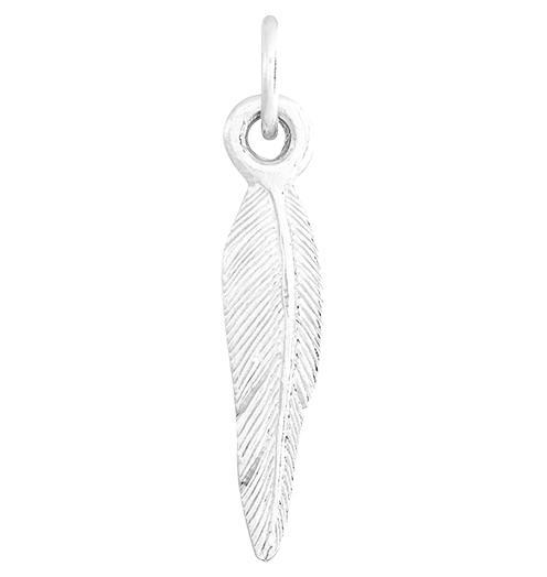 Medium Feather Mini Charm Jewelry Helen Ficalora Sterling Silver