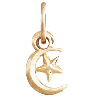 Moon And Star Mini Charm Jewelry Helen Ficalora 14k Yellow Gold