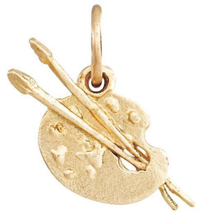 Paint Palette Mini Charm Jewelry Helen Ficalora 14k Yellow Gold For Necklaces And Bracelets