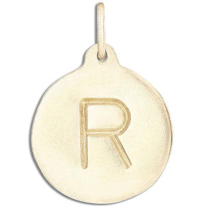 """R"" Alphabet Charm Jewelry Helen Ficalora 14k Yellow Gold For Necklaces And Bracelets"