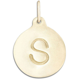 """S"" Alphabet Charm Jewelry Helen Ficalora 14k Yellow Gold For Necklaces And Bracelets"
