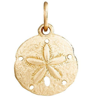 Sand Dollar Mini Charm Jewelry Helen Ficalora 14k Yellow Gold