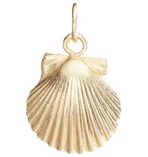 Small Scallop Shell Charm Jewelry Helen Ficalora 14k Yellow Gold