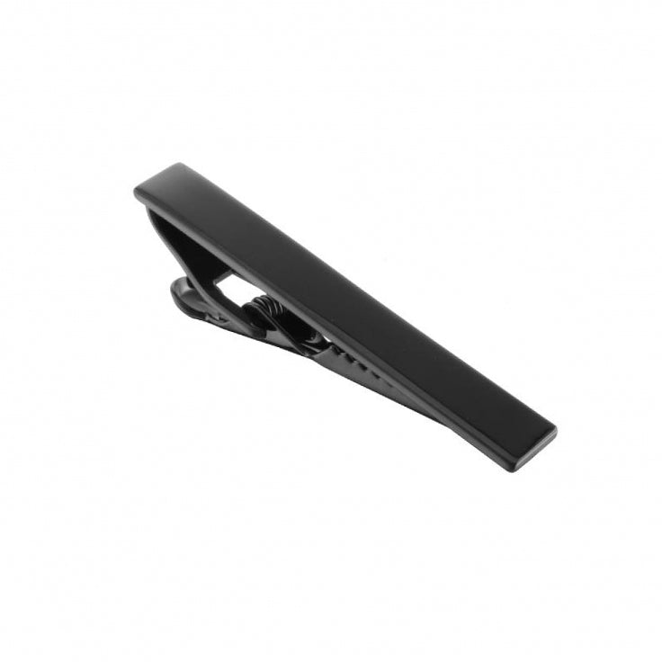 Black Plated Tie Clip
