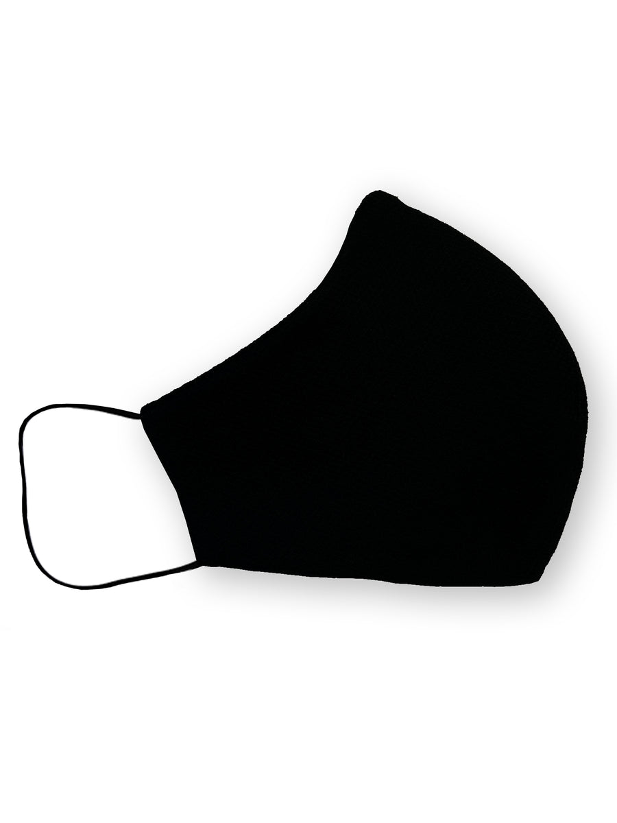 Micro Black Check Reversible Four Layer Cotton Face Mask